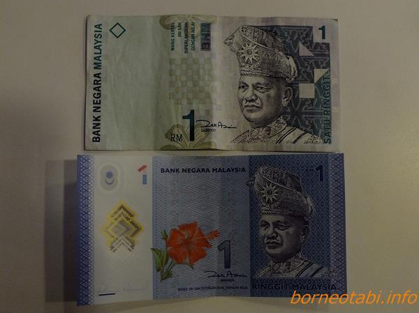 ボルネオのおカネ RM1 表 2013.1.18