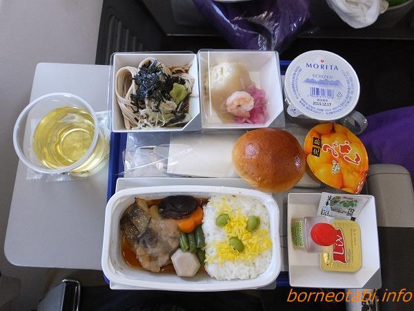 成田⇒コタキナバル マレーシア航空機内食 2014.2.10