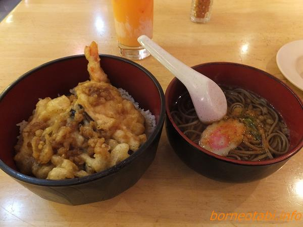 天丼そばセット 2014.2.14 コタキナバル