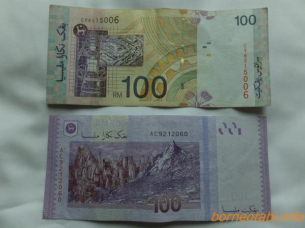 ボルネオのおカネ RM100裏 2014.2.11