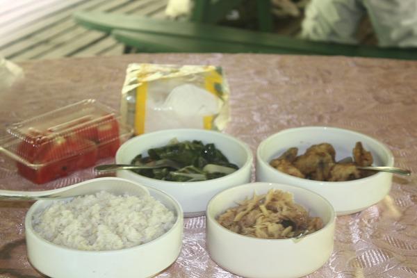 2012.7.26昼、タケノコや野菜の煮物、ムル