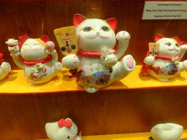 ネコ博物館のまねき猫